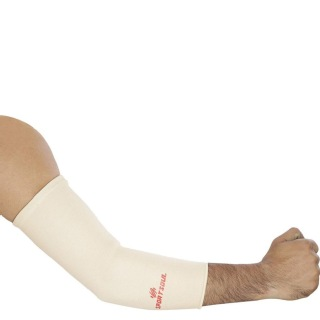 1 - SportSoul Premium Compression Elbow Support,  White  Large