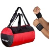 2 - SportSoul Workout & Gym Set Combo,  Red & Black (Wrist Supports)