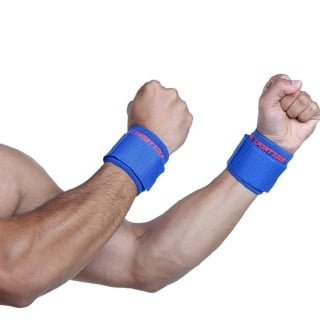 1 - SportSoul Wrist Support Pack of 2,  Royal Blue  Free Size