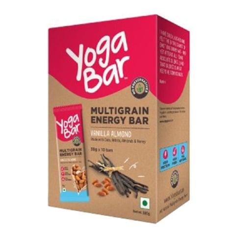 Yogabars Multigrain Energy Bars,  10 bar(s)  Vanilla Almond