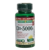 Nature's Bounty Maximum Strength Vitamin D3 (5000 IU),  100 Softgels