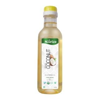 Nouriza Cold Pressed Organic Regular Coconut Oil,  0.5 L