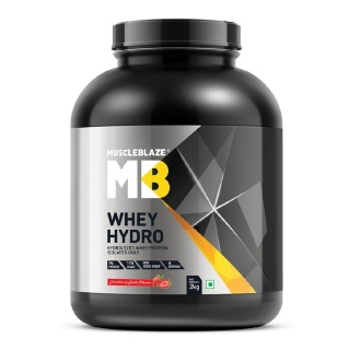 1 - MuscleBlaze Whey Hydro,  4.4 lb  Strawberry Shake