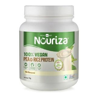 Nouriza 100% Vegan Pea & Rice Protein,  2.2 lb  Unflavoured