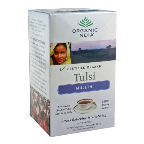 Organic India Certified Tulsi Tea,  Mulethi  18 Piece(s)/Pack