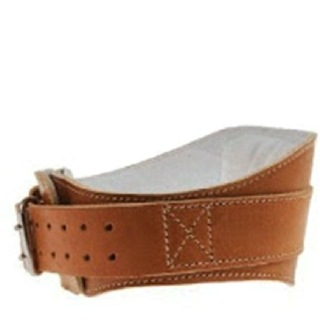 Schiek Leather Padded Contour Belt,  Brown  Large