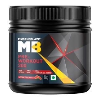 MuscleBlaze PRE Workout 300,  0.55 lb  Melon Twist